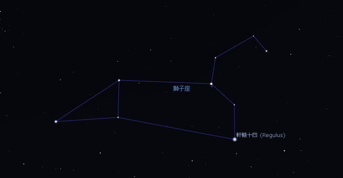 Stellarium 軟件所展示的獅子座