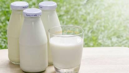 一張含有 杯子, 桌, 草, 牛奶 的圖片自動產生的描述