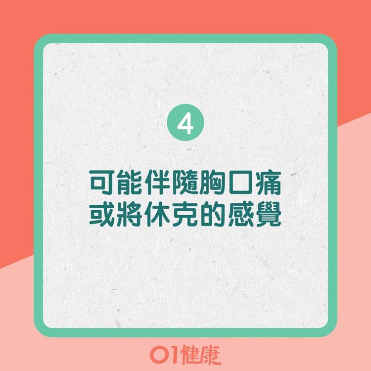 Title: 4. 可能伴隨胸口痛或將休克的感覺(01製圖)
