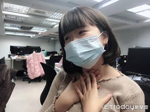 喉嚨痛,感冒,聲音沙啞。(圖/記者李佳蓉攝)