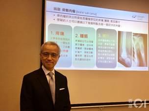 港怡醫院骨骼肌肉腫瘤中心總監、骨科名譽顧問醫生蘇鎰昌指出,骨骼肌肉惡性腫瘤的表徵較難辨認,醫生誤診情況屬常見。(李恩慈攝)